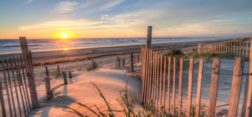 Outer Banks Beach at Sunrise from the Sand Dunes
