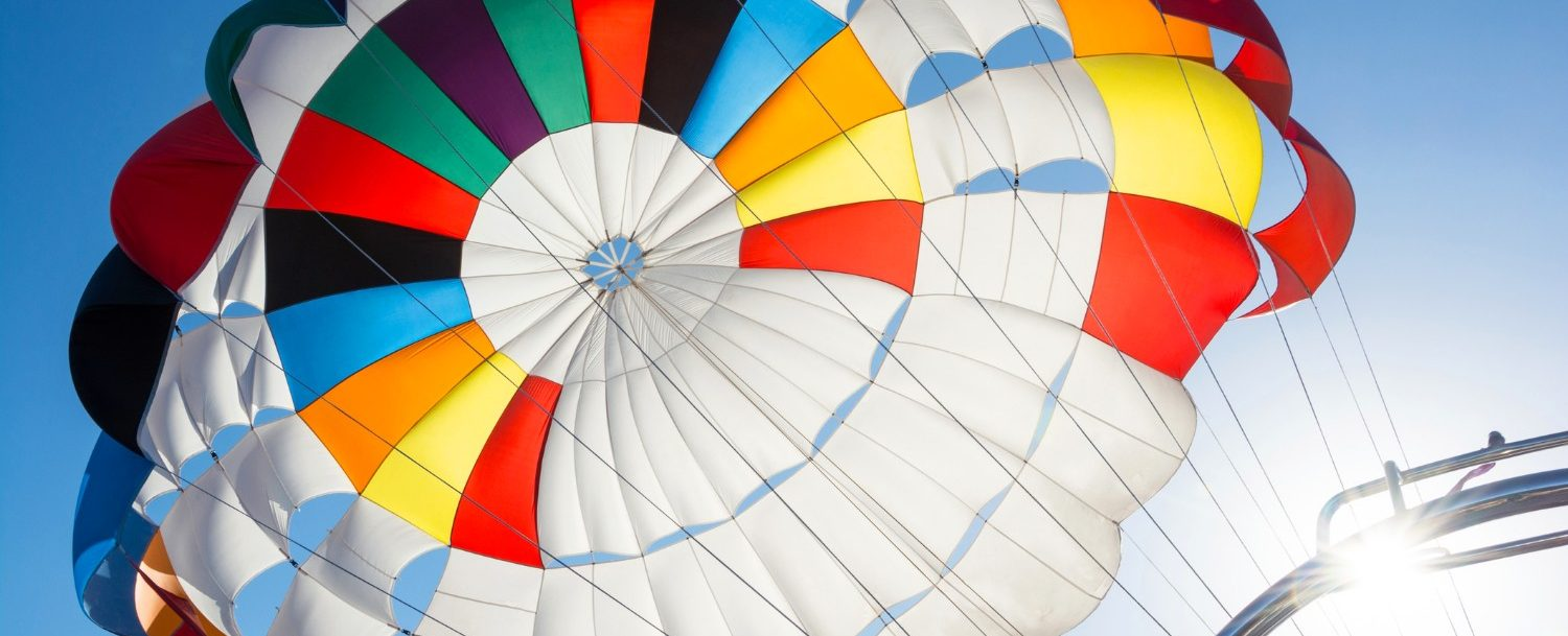 the vibrant colors of parasailing obx
