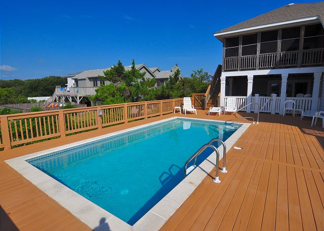 pool deck at Paramount Destination's Silver Creek Property on the Southern Shores