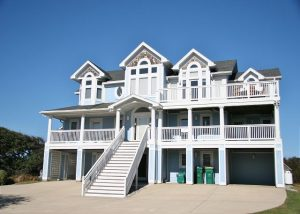 Jordy Property Beachfront home in Corolla, NC front view of the house
