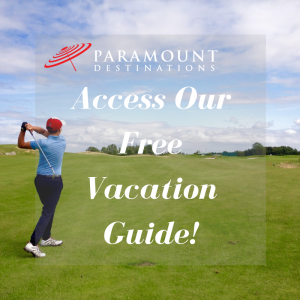 access our free vacation guide paramount destinations golfer practicing swing