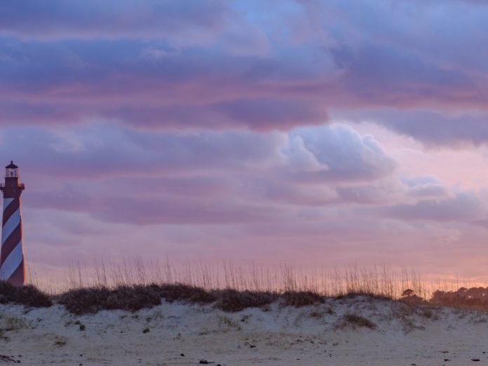 cape hatteras lighthouse at sunset