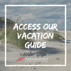 beach dunes on the outer banks text reads access our vacation guide