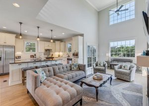 outer banks vacation rentals, living room