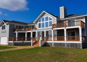 exterior of silver creek vacation rental in southern shores, obx