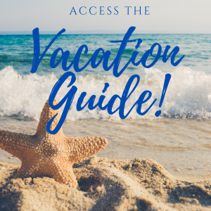 access the vacation guide, beach, waves, starfish