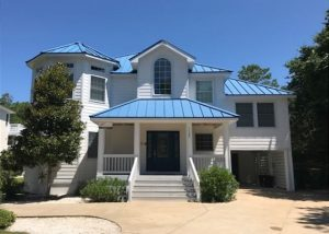 exterior of salty bones vacation rental on outer banks