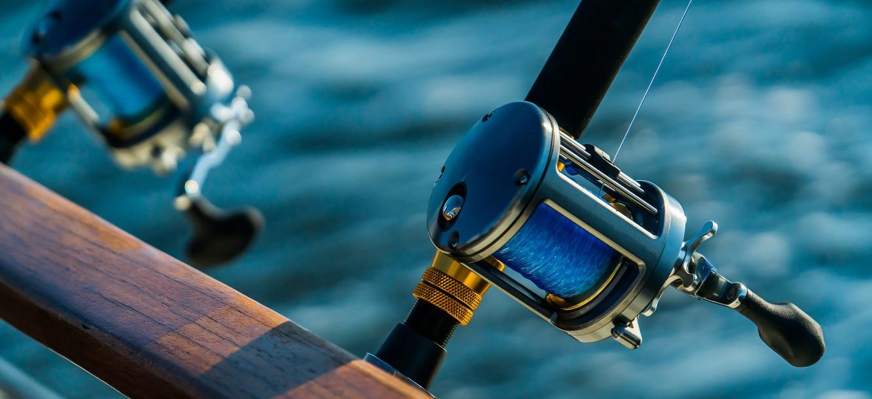 fishing poles, men's fishing trip to outer banks