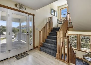 staircase in outer banks vacation rental